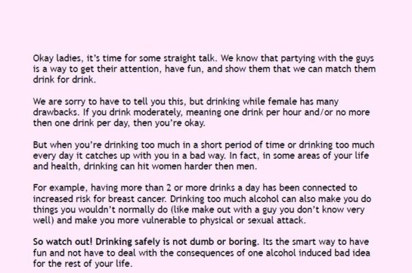 Drink Smart: Men and Women